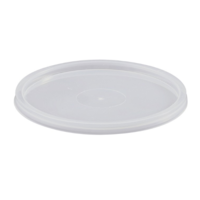 Small Round Takeaway Container Lids 110mL Sleeve of 100
