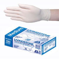 Latex Gloves Low Powdered Small (Box of 100 Gloves)