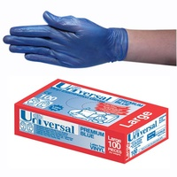 Food Preparation Gloves - Blue Vinyl Disposable