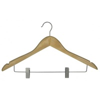 Wooden Clothes Hanger - Hook with Clips