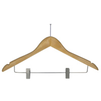 Hotel Clothes Hanger - Pilfer Proof with Clips