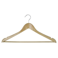 Wooden Coat Hangers - with Hook
