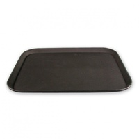 Rectangular Non Slip Bar Tray Black 40 x 55cm