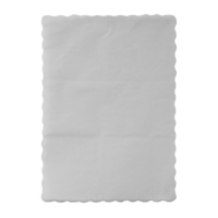 Placemats / Traymats - White Scalloped Edge x 1000