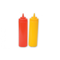 Plastic Squeeze Bottles Yellow / Red - 720mL
