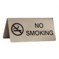 "No Smoking Table Sign 10 x 5 cm ""A"" Frame (Box of 12)"