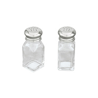 Glass Salt & Pepper Shakers Bulk x 12