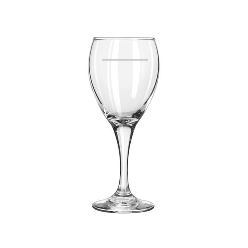 Teardrop White Wine Glass 252mL (with portion control line) x 12 Glasses