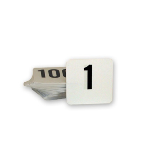 Plastic Table Numbers (1 to 50)  (Box of 10 Sets)