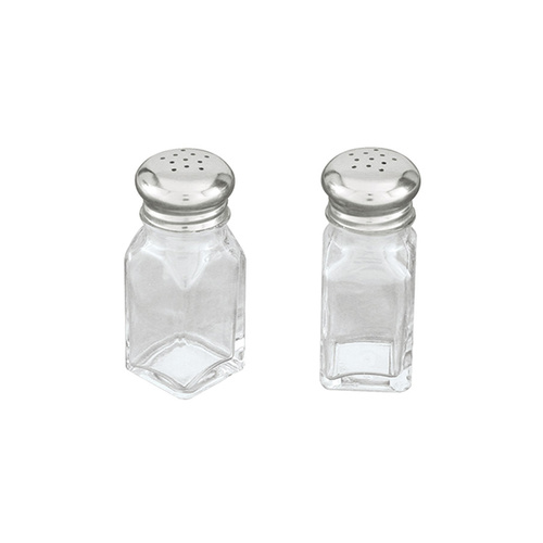 Glass Salt & Pepper Shakers Bulk (Box of 72 pcs)