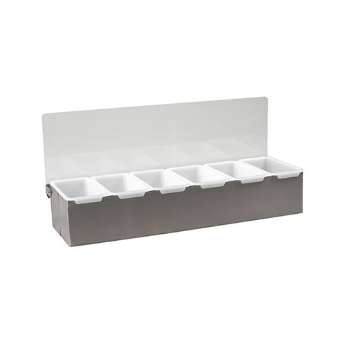 Condiment Dispenser - 5 Compartment Bar Organiser