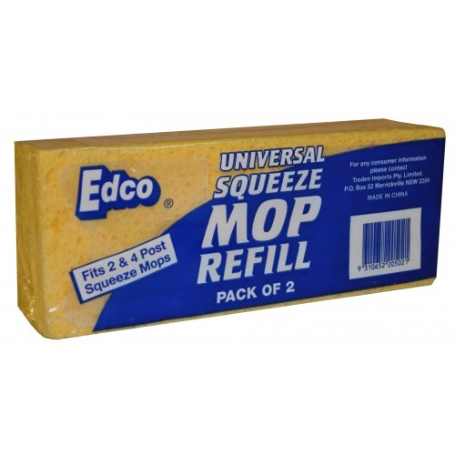 Edco Universal Squeeze Mop Refill Pack of 2